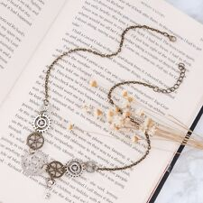 Retro Exquisite Unique Steampunk Gear Key Pendant Antique Bronze Chain Necklace