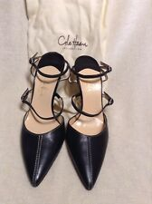 Beautiful Cole Haan Black Leather Strappy Heels Size 5.5
