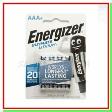 ENERGIZER Lithium AAA 4 Pile litio Batterie ULTIMATE ministilo !!!SCADE 2039!!!