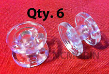 Qty 6 pieces RV Pleated Shade Hold Down Spools - Tensioner - Clear