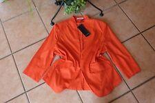 STEILMANN Damen Blazer Jacke Gr. 44 NEU orange Stretch Baumwolle Details