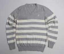 J. Lindeberg men's Gray Thin 100% Merino Wool Jumper Sweater SIZE L