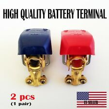 2pc Car Boat RV Heavy Duty Quick Release Battery Terminal Clip Connector Clamp