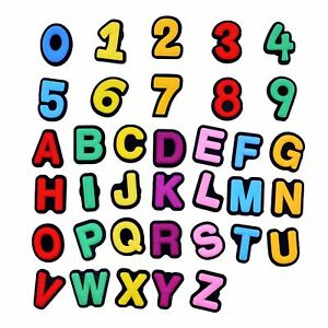 Shoe Decortaion Classic 6 Colors Available Round Cute A-Z Letters & 0-9 Numbers