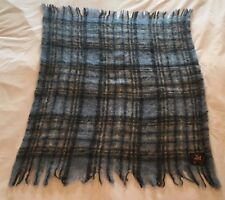 "Edinburgh Woollen Mill Thick 100% Pure Wool Tartan Throw Blanket 31""X42"" EUC"