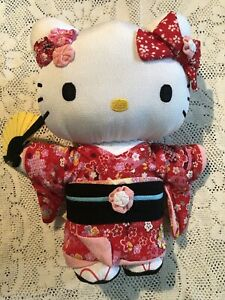 Asunarosya (Asunarosha) KT crepe Japan doll / L New With Tags Hello Kitty
