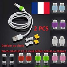 EMBOUTS X2 PROTECTION POUR CABLE USB CHARGEUR TÉLÉPHONE SMARTPHONE 2PCS ANTI PLI