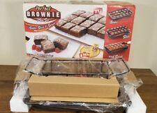 Perfect Brownie Pan Set Bakes 18 Individual Slices Bake Slice Serve NEW IN BOX