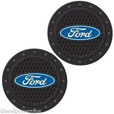 ford oval tough logo vehicle travel auto cup holder insert coaster can set 2 mug