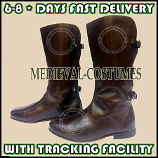 Medieval Leather Boots Re-enactment Costume Boot Mens Fashion Shoes LARP