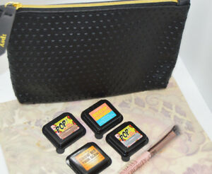 4 Elizabeth Mott Shadows & 1 Luxie Brush (4 Different Colors) 1 Black Ipsy Bag