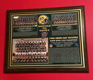GREEN BAY PACKERS SUPER BOWL I II XXXI Wood Plaque Vtg 1967 1968 96 NFL Football