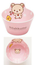 Pink Rilakkuma San-X Bear Oatmeal Rice Soup Bowl Kitchen Melamine Anti Fall Bowl
