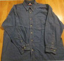 Men's Denim Shirt Small Size Button down 100 % Cotton Left Pocket