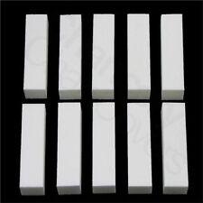 10 X WHITE NAIL BUFFER BLOCK SANDING BLOCK FILES NAILS FILE