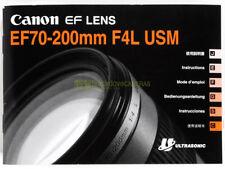 Canon EF 70/200mm. f4 L IS USM instructions English Deutsch Francais Esp.