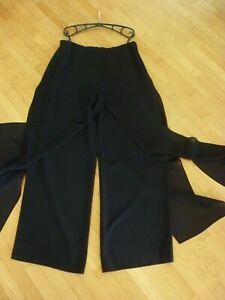 Damen Hose Hosenrock Gr.44  Chiffon schwarz elegant festlich