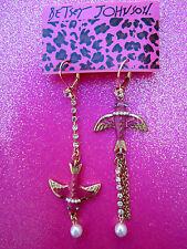 Betsey Johnson Swallow Dangle Earrings