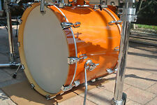 "ADD this LUDWIG 22"" ACCENT CS CUSTOM BASS DRUM in AMBER to YOUR DRUM SET! #Y68"