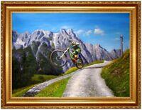 Downhill Asitz Leogang, Ölbild, Berglandschaft,Ölgemälde HANDGEMALT F:60x80cm