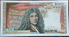 Billet de 500 nouveaux francs MOLIÈRE 2 - 1 - 1964 FRANCE Q.14