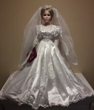 avia limited collection porcelain doll in wedding dress CYNTHIA limited edition