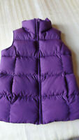 LANDS END  Girl's  Down Filled Puffer Vest  PURPLE    Small 7/8 - CLEAN