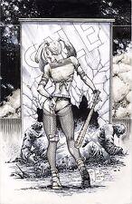 DC Comic Sexy Harley Quinn Original Art Suicide Squad BATMAN JOKER GOTHAM FOX TV