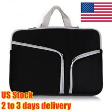 Dual Zipper Laptop Bag Sleeve Case Cover Handbag Notebook Computer Shockproof US
