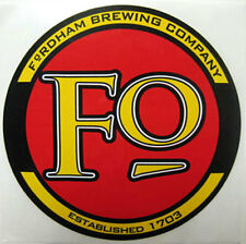 Fordham Brewing Company 4 inch Beer Sticker, Label, Dover, Delaware, & Maryland