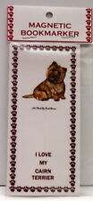 "Cairn Terrier Dog Magnetic Bookmarker, ""I Love My Cairn Terrier"""