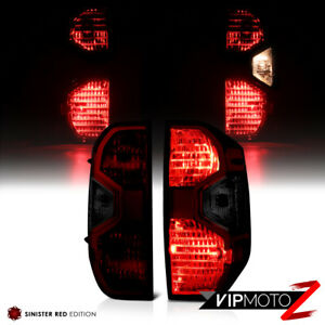 For 14-21 Toyota Tundra SR5 1794 JDM SMOKE Dark Red Tail Lights Replacement Pair