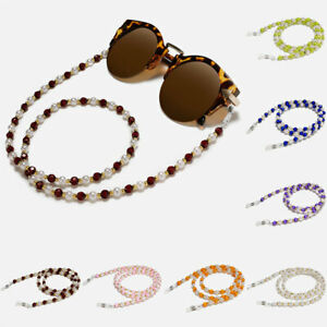 Glasses Neck Chain Rope Lanyard Beaded Sunglasses Strap Spectacles Reading Cord