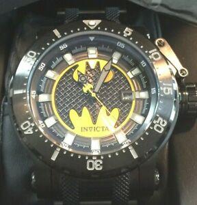 LTD ED DC Comics Invicta BATMAN Coalition Forces Black Steel 50+mm Watch