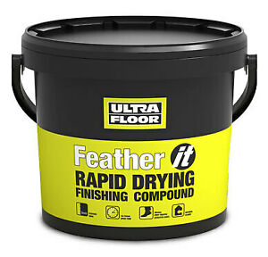UltraFloor Feather It Rapid Drying Compound: Floor Defects,Levelling,Repair 5kg