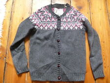 BNWOT JACK WILLS GREY/PINK FAIR ISLE CARDIGAN 10