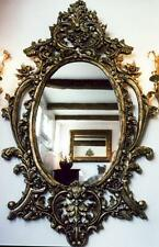 EDELHOLZ WAND SPIEGEL SCHNITZKUNST 1,8m GROß alt antik Barock Rokoko Empire