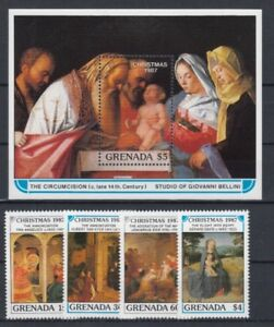 D.Christmas Grenada 1712-15+ Block 198 (MNH)