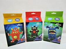 NEW Monster Silk and Foam Clay DIY Kits Bundle x3 Ages 3+ RRP$60