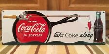 COCA COLA Embossed Metal Fishing Lures Rod Reel Soda Jerk COKE Metal Boat Motor