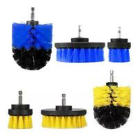 3pcs/pack Round Electric Bristle Drill Brush Tub Rotary Cleaning Tool Attachment