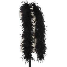 Black 40 Gram Chandelle Feather Boas - 6 Feet Long - Halloween Costumes - Trim