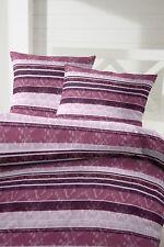 Fein Biber Bettwäsche in violett flieder 135 x 200 + 80x80 cm