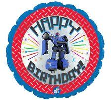 "LARGE 24"" FOIL BALLOON - TRANSFORMER ROBOT -  UK SELLER - HAPPY BIRTHDAY"