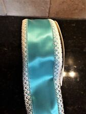 """10 yards-2.5"""" Vintage Satin and Lace Ribbon Trim- You Choose Color"""