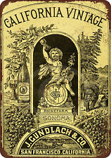 1889 Sonoma Wine Vintage Reproduction Metal Sign 8 x 12