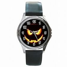 Halloween Scary Jack O Lantern Punpkin Holiday Accessory Leather Watch New!