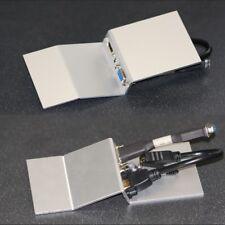 Coudé AV Floor Box plaque, HDMI/VGA/Audio, (L) 185 mm x (W) 76 mm