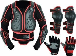 Childrens Kids Motorbike Safety Protective Body Armour Protection Full Suit
