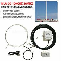 MLA-30 100kHz-30MHz Loop Antenna Active Antenna For HF MF Shortwave Radio